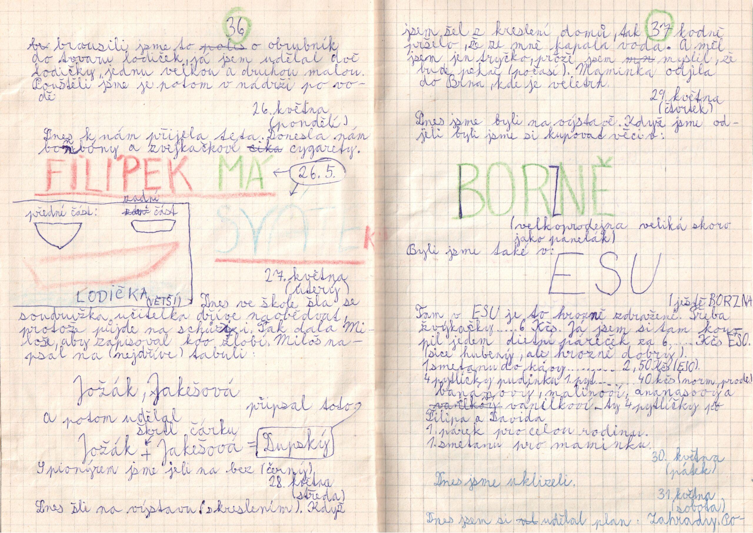 Deník I. - strana 19