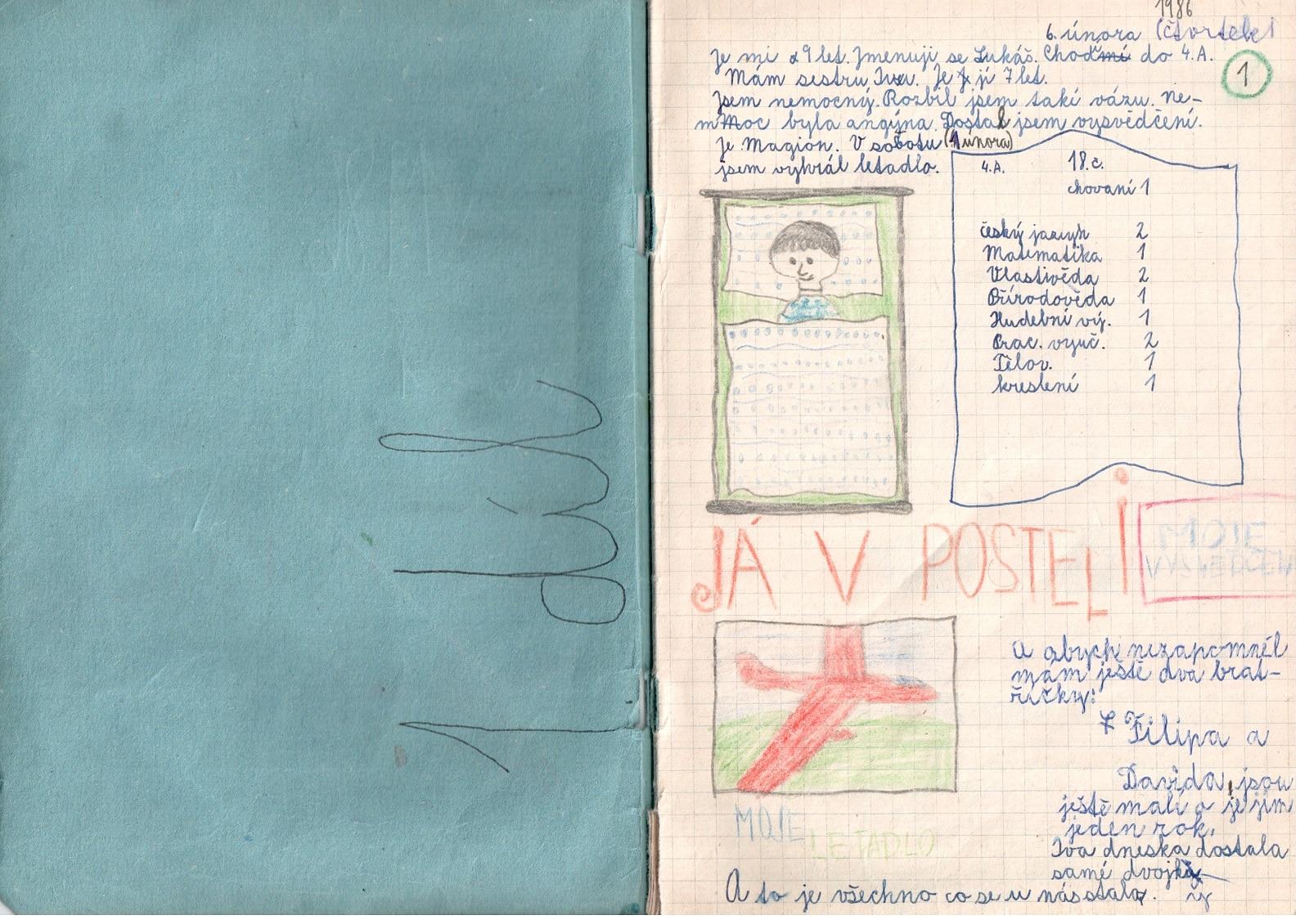 Deník I. - první strana
