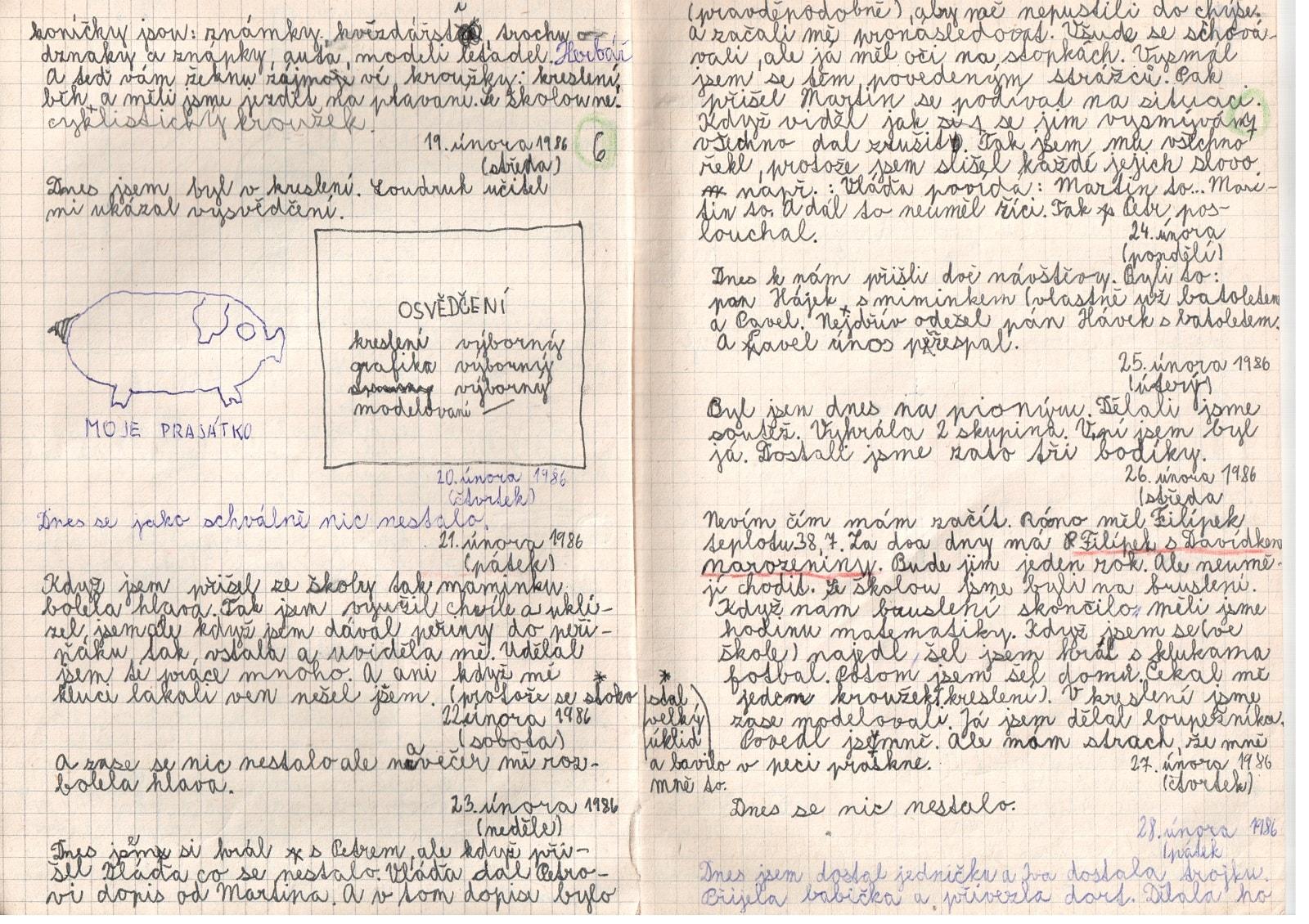 Deník I. - strana 4