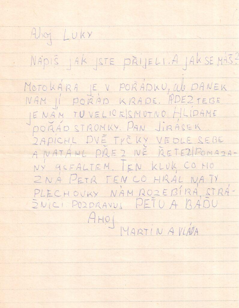 Dopis od Martina