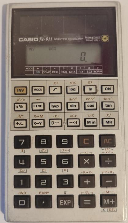 Moje kalkulačka Casio