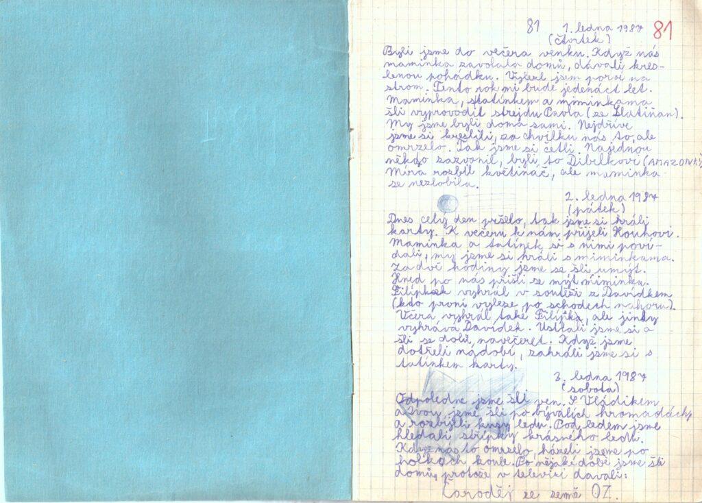 Deník III. - strana 1