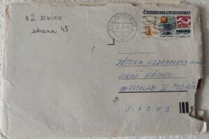 Dopis do zotavovny ve Vrchlabí