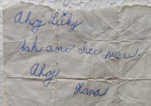 Písemný souhlas od Hanky