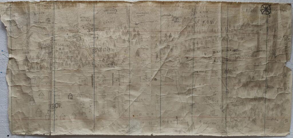 Mapa - Seč - chatová oblast Na Bělidle