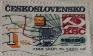Poštovní známka: Plníme závěry XVI. sjezdu KSČ